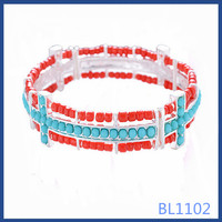 Factory price 2016 african cheap jewellery wholesale handmade gold plated women bangles with colorful beads