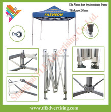 Outdoor heavy duty exhibition hexagon frame folding tent promotion pop up canopy