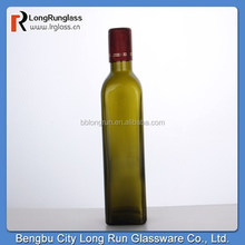 Longrun alibaba china hot new product for 2015 520ml amber glass bottle olive oil bottle china supply