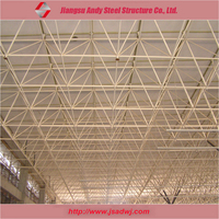 Low cost light space frame roofing system