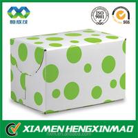 Green dots print art paper nail oil vial packaging paper box for nail oil vial bottle packaging