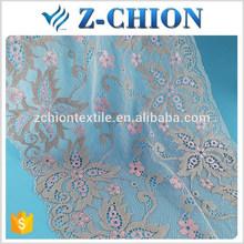 Nylon de alta qualidade estiramento Fujian têxtil 24 cm bordado tule guarnição do laço