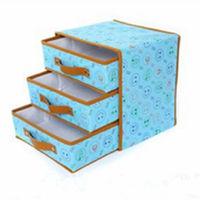Foldable storage organizer box canvas drawer storage organizer