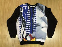 dye sublimation 100% cotton full color sweater accept smalll order