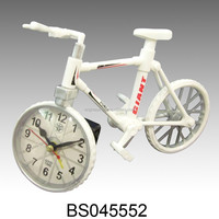 ABS Material Funny Bike shape alarm clock for Promotion