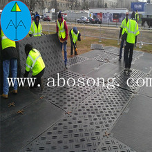 low price HDPE mats for road mats and polyethylene ground mats with plastic ground temporary road