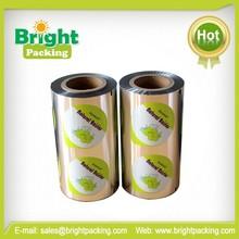 Aluminum foil laminating PP/PS film for sealing plastic bottle