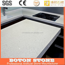 Chemical and Stain Resistant Quartz Stone Polished Surfaces Vanity Tops Kitchen Tops with Bevel Edges