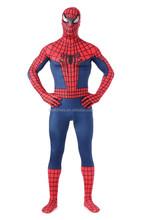 adult spiderman costumes amazing Spiderman cosplay halloween costumes for men full Bodysuit
