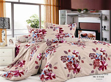 Floral design printing apricot color 4 pieces home Using bedding set