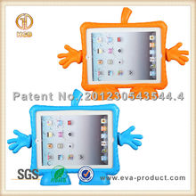 2014 kid friendly updated style for iPad case with free standing feet