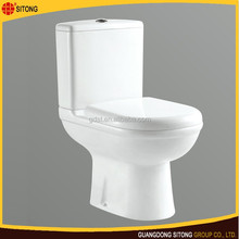 Lowest price dual flush compact toilet with closing seat cover