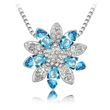 winter products snowflake necklace with swarovski crystal