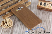 Ultra-thin PU Leather Black Stripe Brown Wood Pattern Plastic Cover Slicone Case For Samsung Galaxy A5