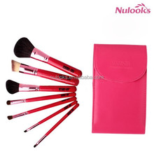 colorful makeup tools with mirror 7pcs set