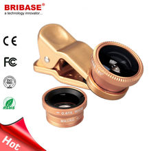 3 in 1 Universal Clip Fisheye Wide Angle Macro Lens for Mobile Phone Camera