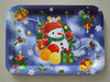 Rectangular christmas plastic tray and gifts/Plastic Serving tray