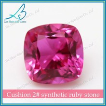 High Quality Synthetic cushion Cut Gemstone Ruby Prices