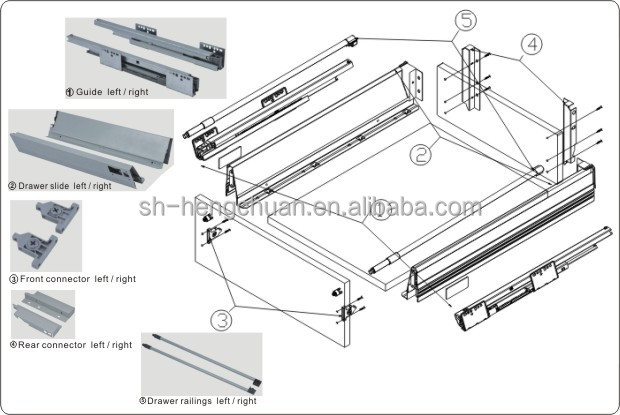 Metal Box Blum Type Steel Box Drawer Rail, View Blum Type Steel Box ...