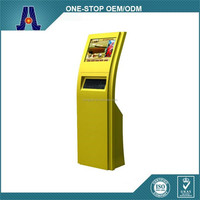 touch kiosk advertising display with DVD function,keyboard kiosk (HJL-2017)