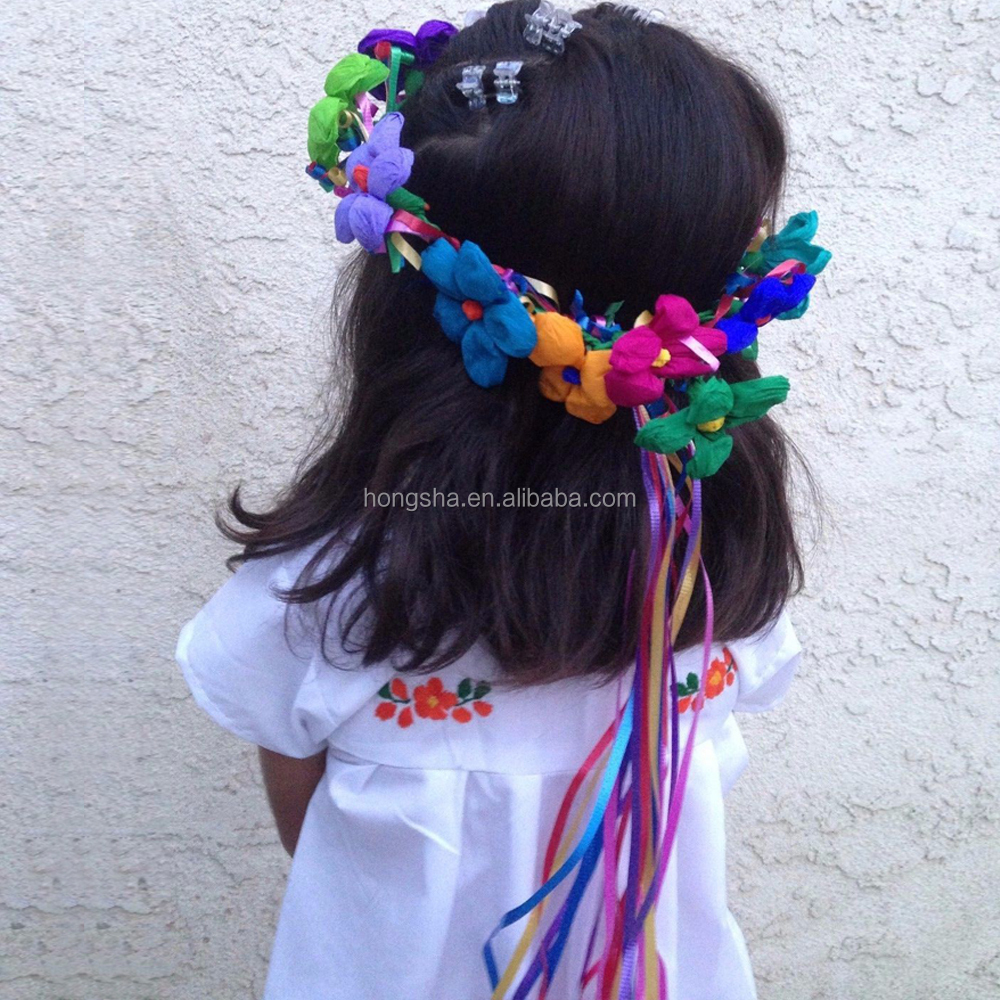 Vintage Mexican Embroidered Dress Latest Smoking Dress Designs For Flower Girls HSD1290-10.JPG