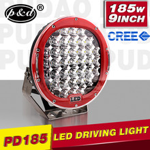 4x4 accessory 12V Heavy Duty 185w LED driving light for offroad car