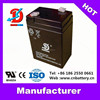 Emergency light battery 6v 4ah, lead acid storage Battery 6v4ah