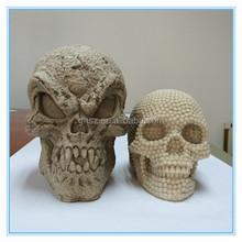 Guohao custom wholesale mini style halloween ornament resin skull head