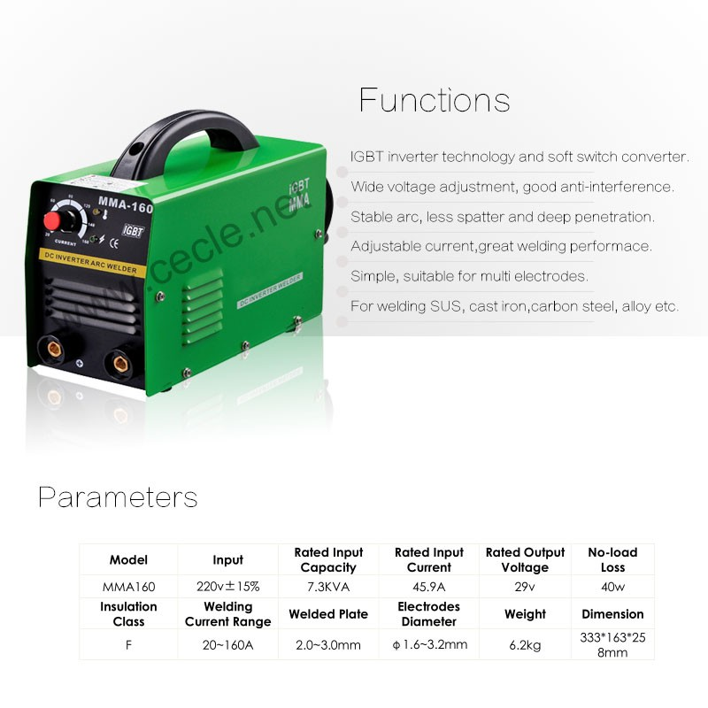 inverter portable electric arc welding machines