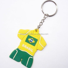 Popular PVC Key chain Football clothes,plastic keychain Direct suppliers