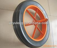 solid rubber spoke wheel 14x4