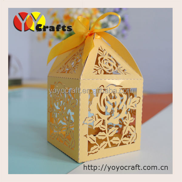 Gold Paper Cut Art Decorations Supply Chocolate Wedding Souvenirs ...