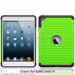 China manufacuture hard plastic pc case cover with hand holder for ipad mini 4