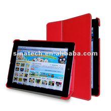 for ipad2/ipad3/ipad4 case,protective pu case