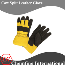 Cow split leather canadian rigger glove for safety work