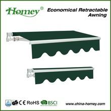 aluminum material car parking awning from zhejiang homey