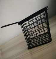 Food class wire woven kitchen fresh french fries baskets stainless steel metal type chips strainers