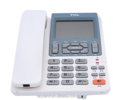auto-call back 2 line corded telephone,fix line telephone