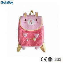 Customized plush backpacks stuffed soft animal bag toy plush school bag