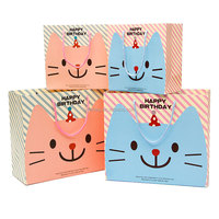 Handled OEM Hot stamping ribbon tie gift bags