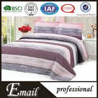 Dubai design cotton fabric polyester fiberfill bed sheet set/sets