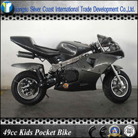 Hot sale Carbon Color 50cc Super Pocket Bike with Easy Pull Start
