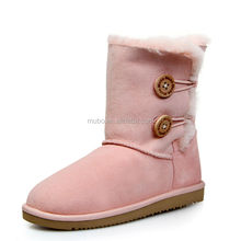 Fashion Bailey Button Pink Color Winter Snow Half Boot