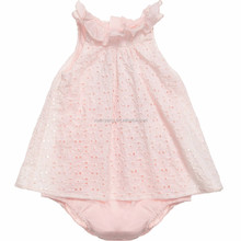2015 baby cotton frocks designs for 0-3 year old girl dress