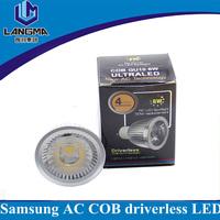 Shenzhen low cost E27 non driver spotlight led 6w