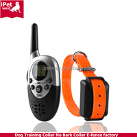 Rechargeable and Waterproof 1000m Dog Training Collar with remote for Medium or Large Dog