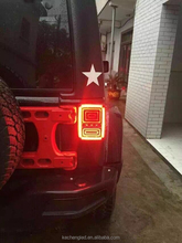 2015 newest led rear tail lamp for jeep wrangler plug and play led auto lamp 12v led tail light
