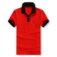 Newest Design Two Color 100% Cotton Plain Polo Shirt For Men