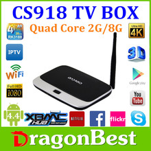 CS918 android tv box Rockchips 3188 Quad core 1.8Ghz 2GB Android 4.4 Full HD support wifi