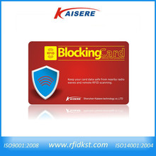 Brand new RFID blocking fabric card with high quality
